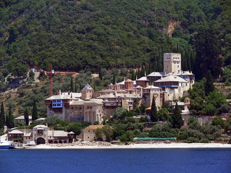 Fotogalerie svatá místa klášter dochiariou na athosu