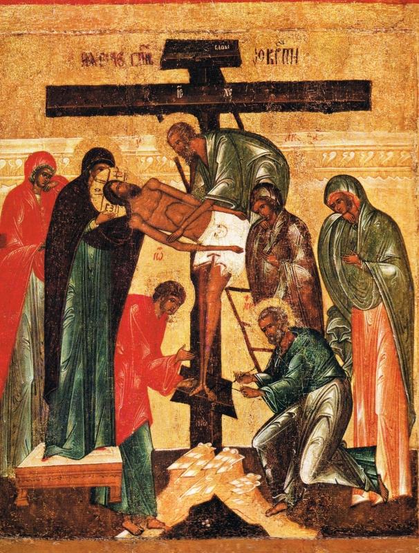 Umění snímání z kříže polovina 16 století