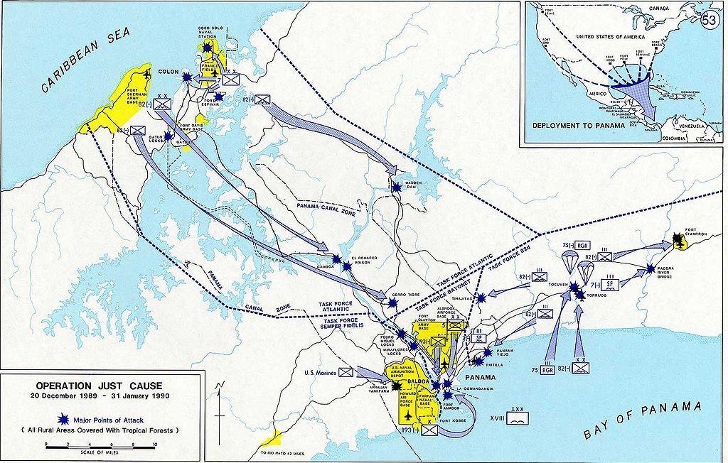 Americká invaze do Panamy, 1989-1990