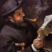 Čtoucí Claude Monet (1872)